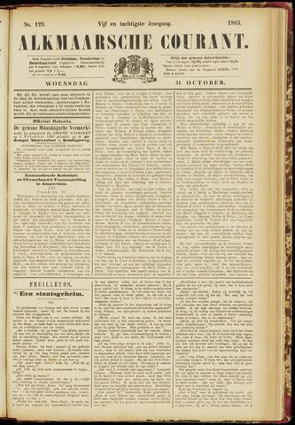 Alkmaarsche Courant 1883-10-31