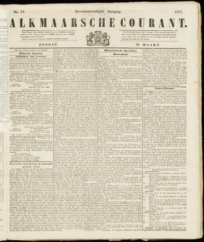 Alkmaarsche Courant 1875-03-28