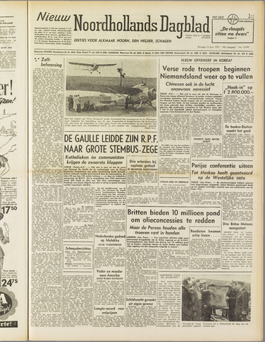 Nieuw Noordhollandsch Dagblad : voor Alkmaar en omgeving 1951-06-19