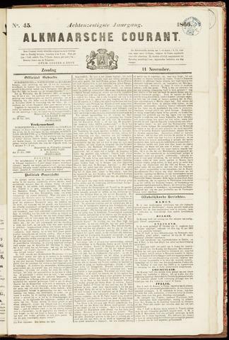 Alkmaarsche Courant 1866-11-11