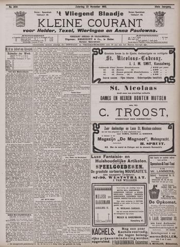 Vliegend blaadje : nieuws- en advertentiebode voor Den Helder 1902-11-22
