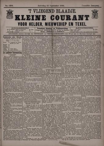 Vliegend blaadje : nieuws- en advertentiebode voor Den Helder 1884-09-13