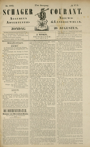 Schager Courant 1883-08-26