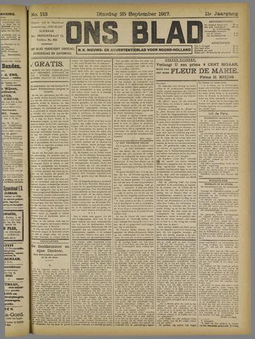 Ons Blad : katholiek nieuwsblad voor N-H 1917-09-25
