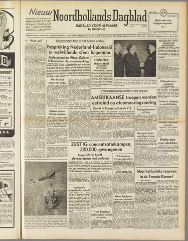 Nieuw Noordhollandsch Dagblad : voor Alkmaar en omgeving 1952-01-16