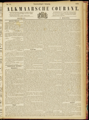 Alkmaarsche Courant 1879-08-03
