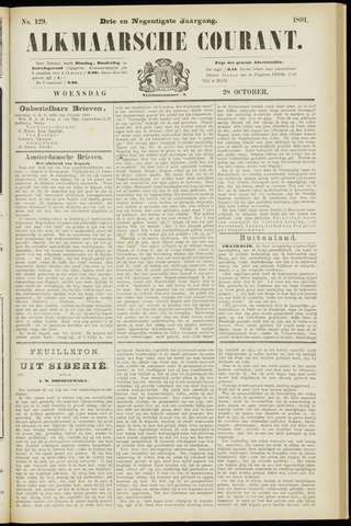 Alkmaarsche Courant 1891-10-28