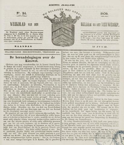 Weekblad van Den Helder en het Nieuwediep 1850-06-10