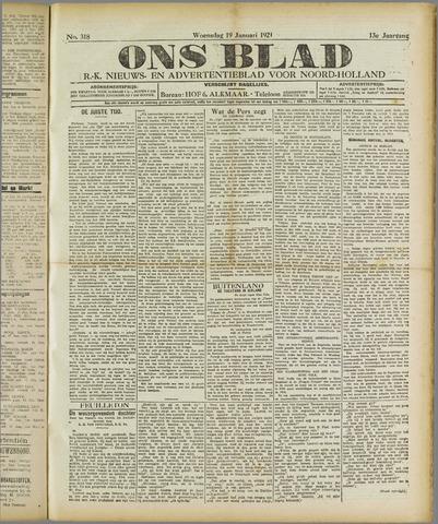 Ons Blad : katholiek nieuwsblad voor N-H 1921-01-19