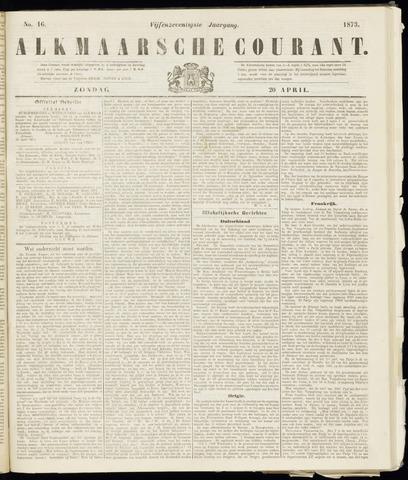 Alkmaarsche Courant 1873-04-20