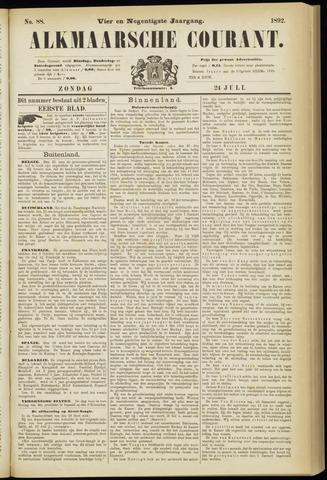 Alkmaarsche Courant 1892-07-24