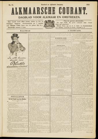 Alkmaarsche Courant 1913-02-03