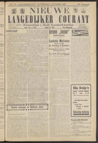 Nieuwe Langedijker Courant 1930-10-04