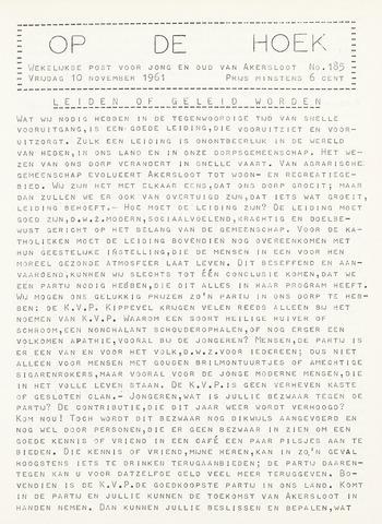 Op De Hoek, weekblad voor Akersloot 1961-11-10