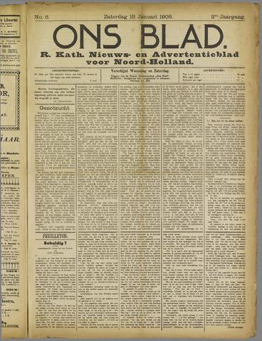 Ons Blad : katholiek nieuwsblad voor N-H 1908-01-18