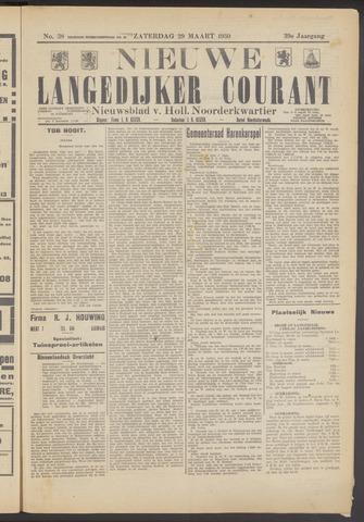 Nieuwe Langedijker Courant 1930-03-29
