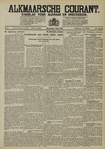 Alkmaarsche Courant 1937-04-07