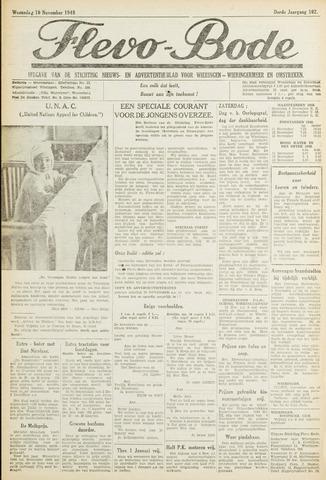 Flevo-bode: nieuwsblad voor Wieringen-Wieringermeer 1948-11-10