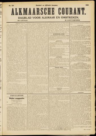 Alkmaarsche Courant 1913-09-29