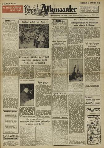 De Vrije Alkmaarder 1948-09-16