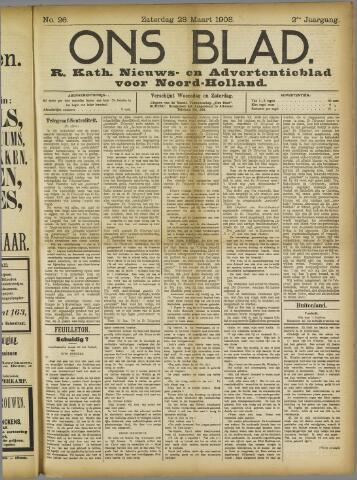 Ons Blad : katholiek nieuwsblad voor N-H 1908-03-28