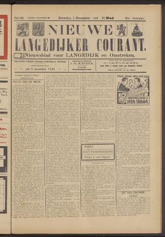Nieuwe Langedijker Courant 1923-12-01