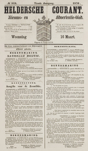 Heldersche Courant 1870-03-16