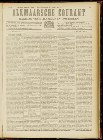 Alkmaarsche Courant 1919-02-12