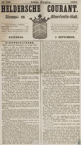Heldersche Courant 1868-09-05