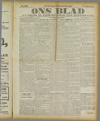 Ons Blad : katholiek nieuwsblad voor N-H 1919-09-25