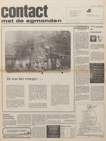 Contact met de Egmonden 1980-04-09