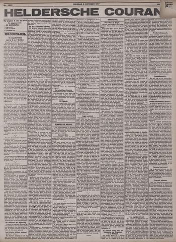 Heldersche Courant 1917-10-09