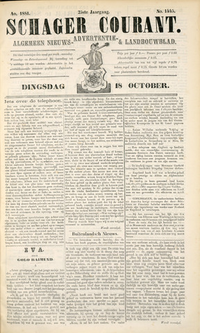 Schager Courant 1881-10-18