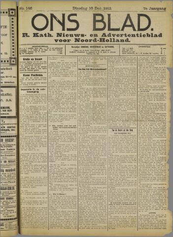 Ons Blad : katholiek nieuwsblad voor N-H 1913-12-16