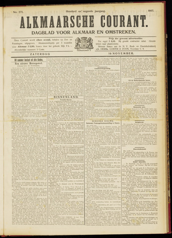 Alkmaarsche Courant 1907-11-16