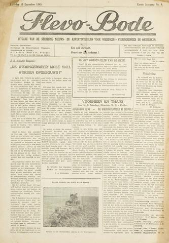 Flevo-bode: nieuwsblad voor Wieringen-Wieringermeer 1945-12-15