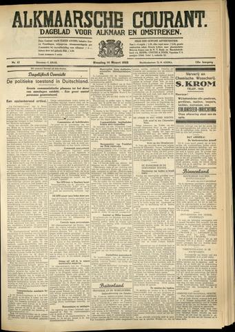Alkmaarsche Courant 1933-03-14