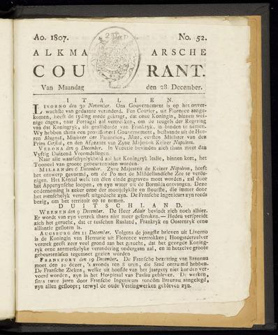 Alkmaarsche Courant 1807-12-28