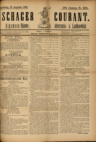 Schager Courant 1889-08-15