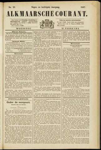 Alkmaarsche Courant 1887-02-23
