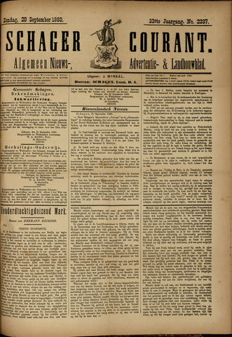Schager Courant 1889-09-29