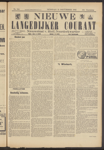 Nieuwe Langedijker Courant 1932-12-13