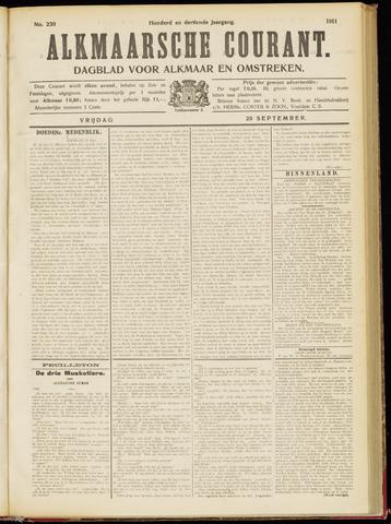 Alkmaarsche Courant 1911-09-29