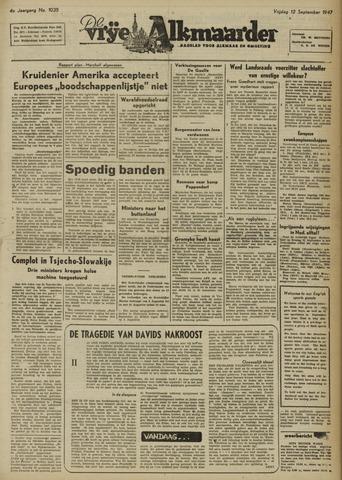 De Vrije Alkmaarder 1947-09-12