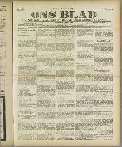 Ons Blad : katholiek nieuwsblad voor N-H 1921-01-28