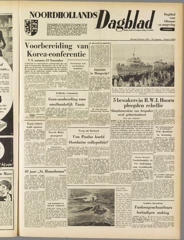 Noordhollands Dagblad : dagblad voor Alkmaar en omgeving 1953-10-27