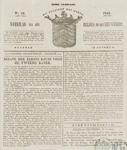 Weekblad van Den Helder en het Nieuwediep 1848-10-23