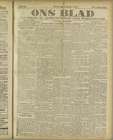 Ons Blad : katholiek nieuwsblad voor N-H 1919-03-01