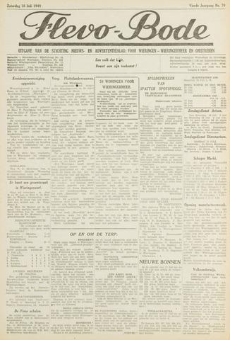 Flevo-bode: nieuwsblad voor Wieringen-Wieringermeer 1949-07-16