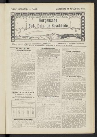 Bergensche bad-, duin- en boschbode 1920-08-14